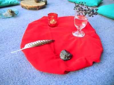 Ritualmitte Frauen Gruppe